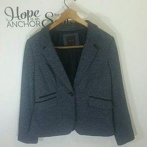 Jacket Womens Blazer Gray Limited Size Large